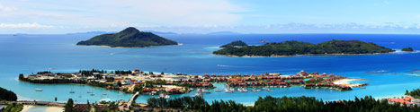 Panoramic view of Eden Island from Mahe - July 2010